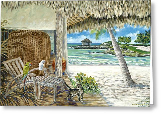 Private Island Greeting Card by Danielle  Perry