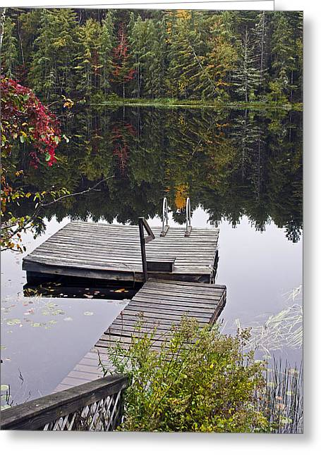 """adirondack Park"" Greeting Cards - Private Launch Greeting Card by Brendan Reals"