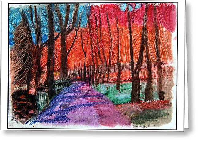 Private Road Greeting Card by Don Schaeffer