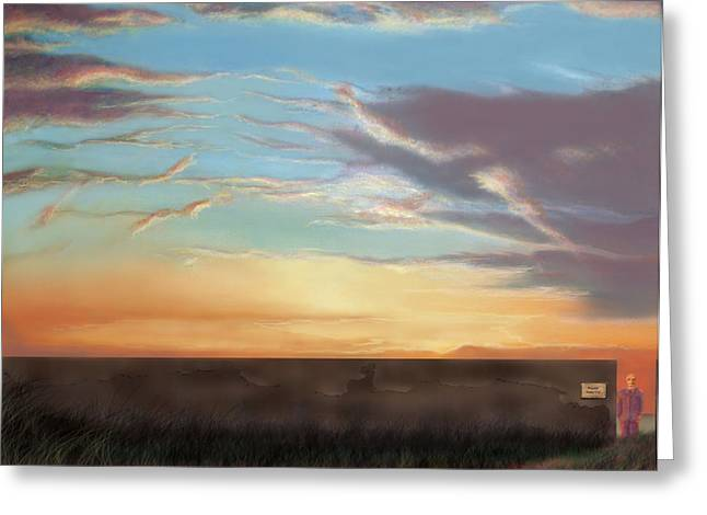Private Sunrise.  Keep Out Greeting Card by Albert Puskaric