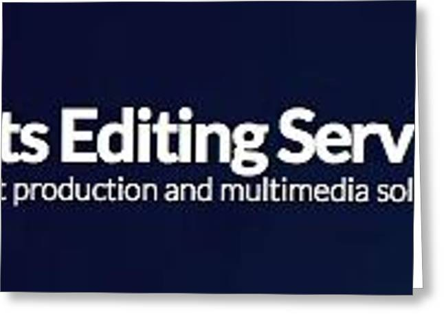 Transfer Greeting Cards - Pro Cuts Editing Services Logo Greeting Card by Kenneth Davis