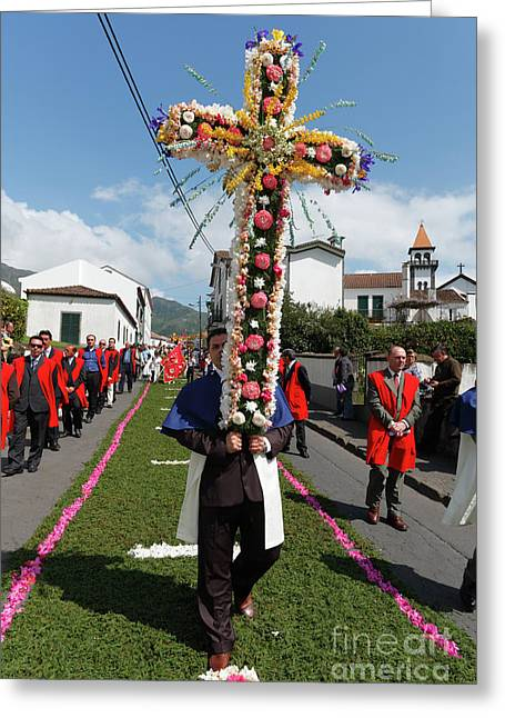 Procession In Furnas - Azores Greeting Card by Gaspar Avila