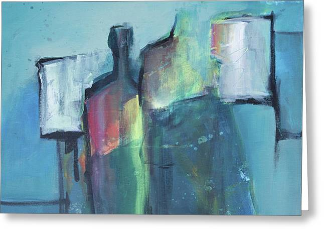 Rectangles Greeting Cards - Procession Greeting Card by Julia Evans