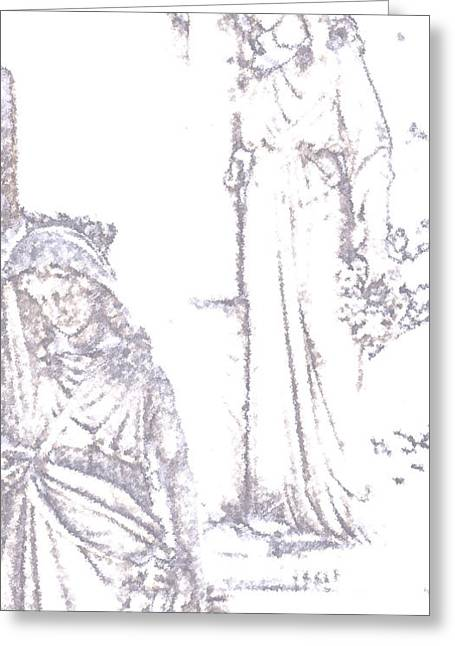 Headstones Digital Art Greeting Cards - Procession Of Faith 2 Greeting Card by Linda Knorr Shafer