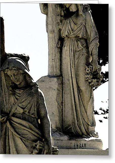 Headstones Digital Art Greeting Cards - Procession Of Faith Greeting Card by Linda Knorr Shafer