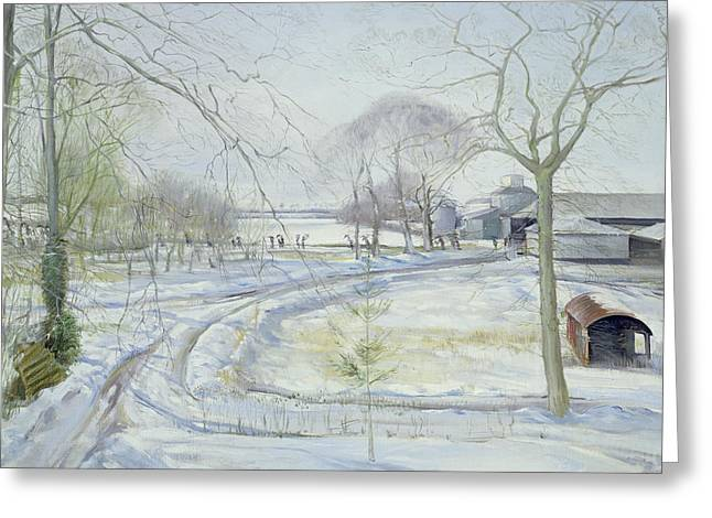 Wintry Greeting Cards - Procession Greeting Card by Timothy Easton