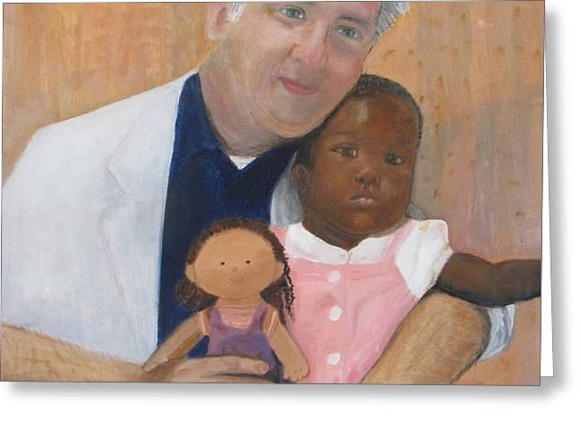 Interracial Love Greeting Cards - Professor and Their Daughter Greeting Card by Jamie AT Alexander
