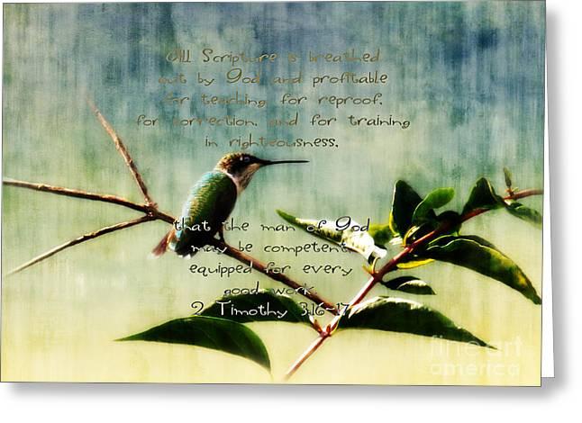 Weeping Greeting Cards - Profitable - Verse Greeting Card by Anita Faye