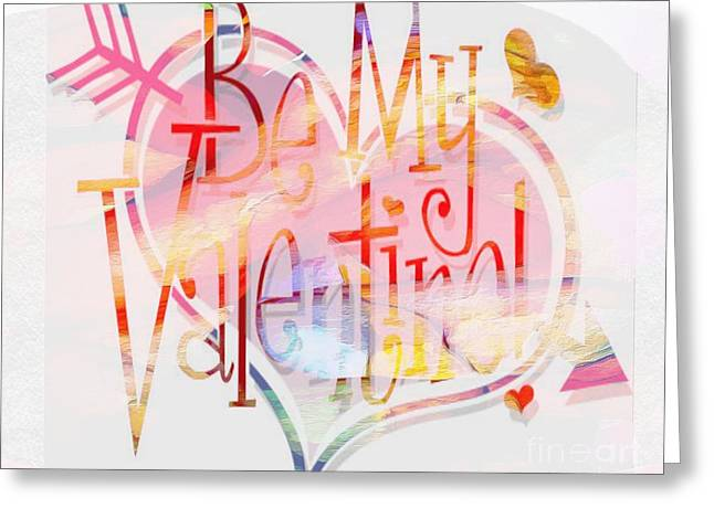 Print On Canvas Greeting Cards - Profound thought Valentine Greeting Card by Catherine Lott
