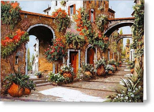 Guido Borelli Greeting Cards - Profumi Di Paese Greeting Card by Guido Borelli