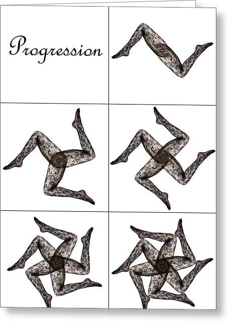 Sequential Art Greeting Cards - Progression Greeting Card by Glen Berry