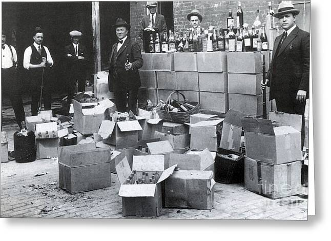Prohibition, 1922 Greeting Card by Science Source