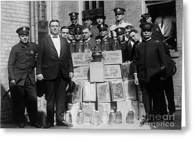 Prohibition Bust Greeting Card by Jon Neidert