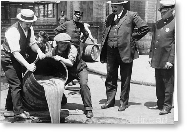 Sewer Greeting Cards - PROHIBITION, c1921 Greeting Card by Granger
