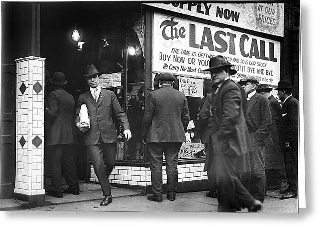Fed Greeting Cards - Prohibition Last Call - Detroit - 1919 Greeting Card by Daniel Hagerman