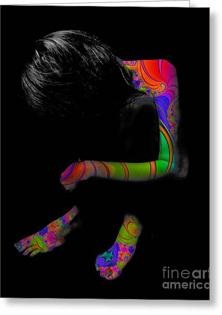Rolf Bertram Greeting Cards - Projected Body Paint 2094915A Greeting Card by Rolf Bertram