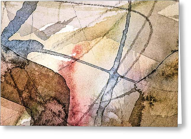 Abstract Movement Greeting Cards - Projection 7 Greeting Card by Dan Sisken