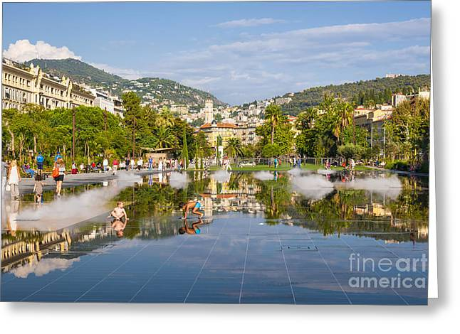People Walking Greeting Cards - Promenade du Paillon in Nice Greeting Card by Elena Elisseeva