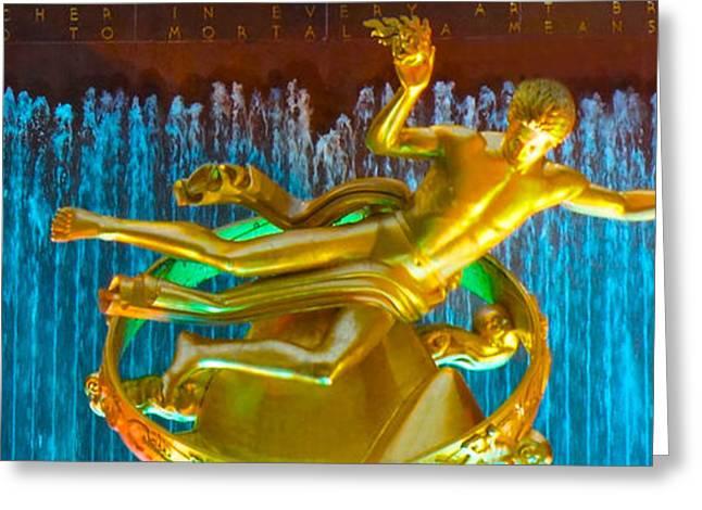 Greek Sculpture Greeting Cards - Prometheus Sculpture Greeting Card by Sheela Ajith