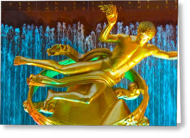 Zodiac Ring Greeting Cards - Prometheus Sculpture Greeting Card by Sheela Ajith