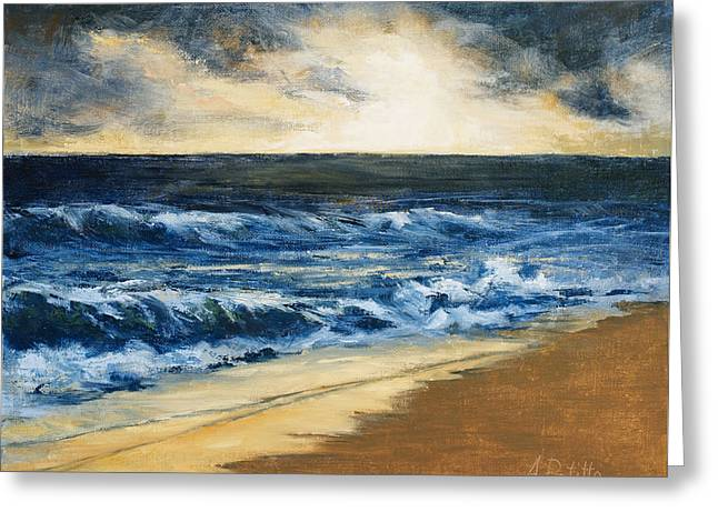 Storm Clouds Cape Cod Greeting Cards - Promise Greeting Card by Andrea Petitto