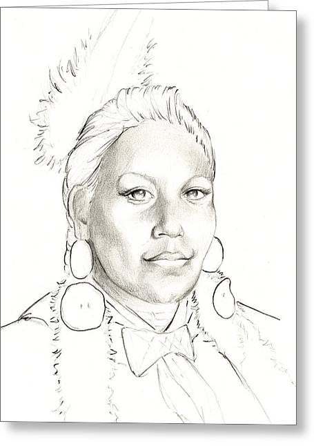 Contemporary Native Art Greeting Cards - Promise Greeting Card by Robert Martinez
