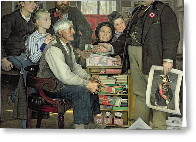 Interior Scene Greeting Cards - Propaganda Greeting Card by Jean Eugene Buland