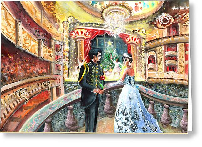 Proposal At The Nutcracker Greeting Card by Miki De Goodaboom