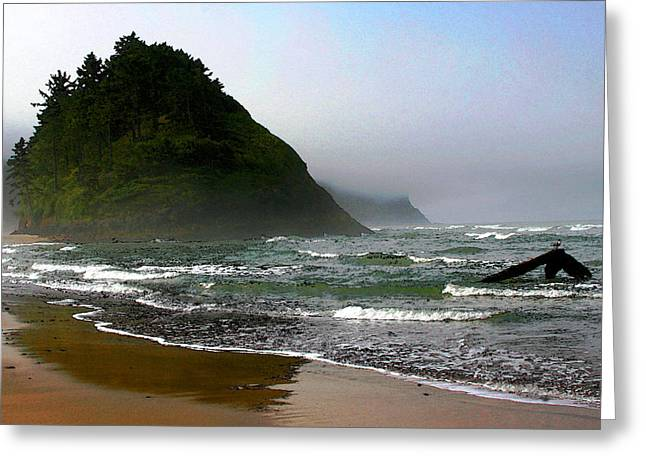 Proposal Greeting Cards - Proposal Rock at Neskowin Beach Greeting Card by Margaret Hood