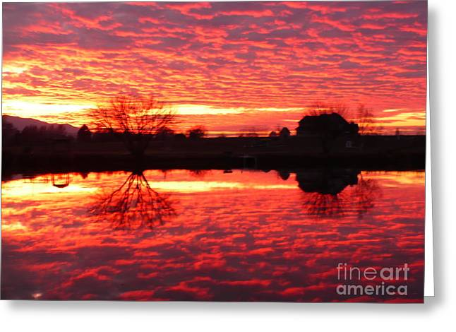 Orange Greeting Cards - Prosser--Colorful Sunset Greeting Card by Carol Groenen