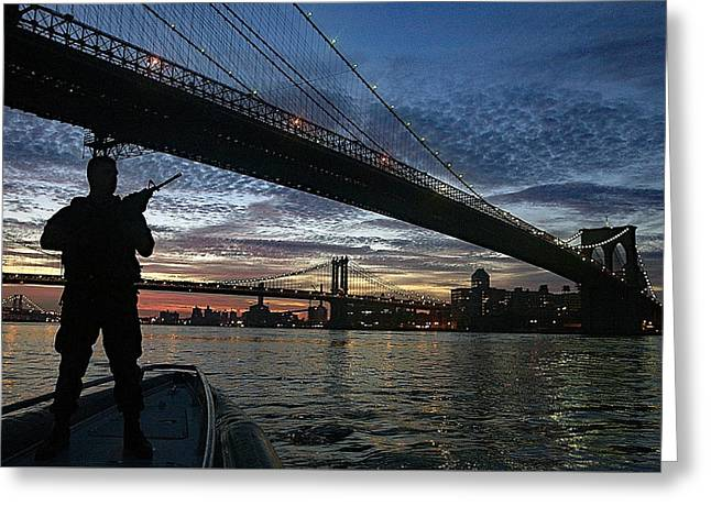 Sunset Prints Greeting Cards - Protecting New York City Greeting Card by Bill Hayes