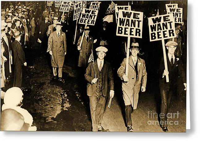 Protest Against Prohibition, New Jersey, 1931 Greeting Card by American School