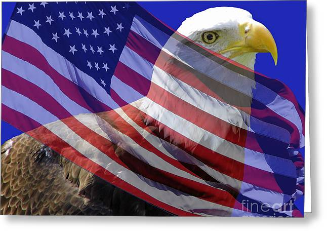 Geometrical Art Greeting Cards - Proud American Greeting Card by D Hackett