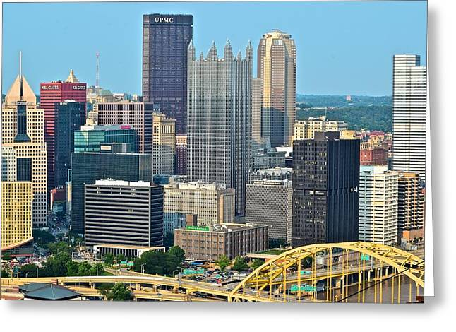 Proud Pittsburgh Greeting Card by Frozen in Time Fine Art Photography