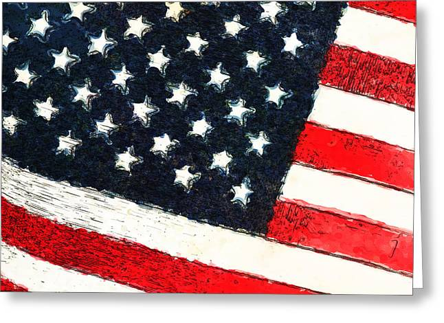Flag Of Usa Greeting Cards - Proud To Be Greeting Card by Karol  Livote
