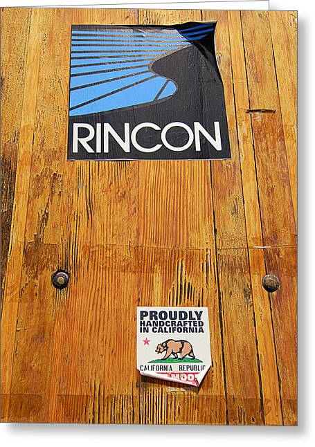Surf The Rincon Greeting Cards - Proudly Handcrafted In California Greeting Card by Ron Regalado