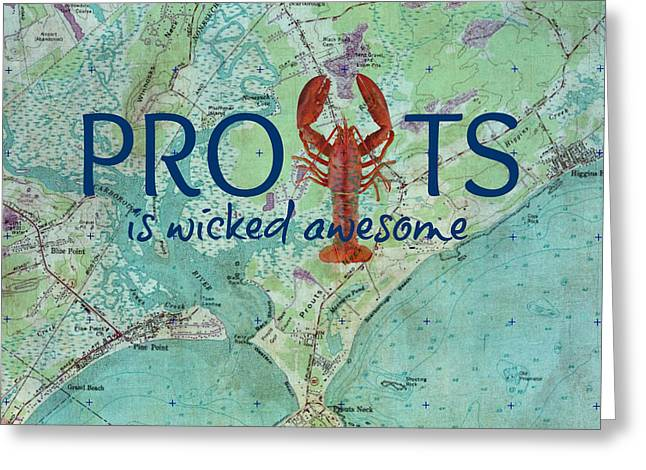 Prouts Neck Lobster V1 Greeting Card by Brandi Fitzgerald
