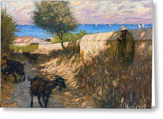 Thangue Greeting Cards - Provencal Lane Martigues Greeting Card by MotionAge Designs