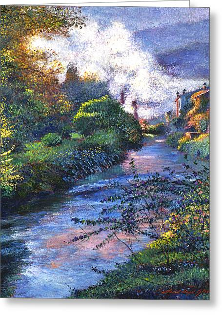 Mist Paintings Greeting Cards - Provence River Greeting Card by David Lloyd Glover