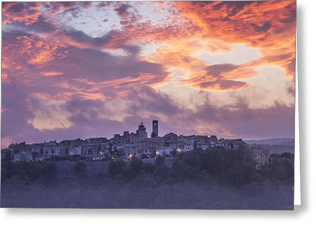 Provence Village Photographs Greeting Cards - Provence Village 3 Greeting Card by Simon Kayne