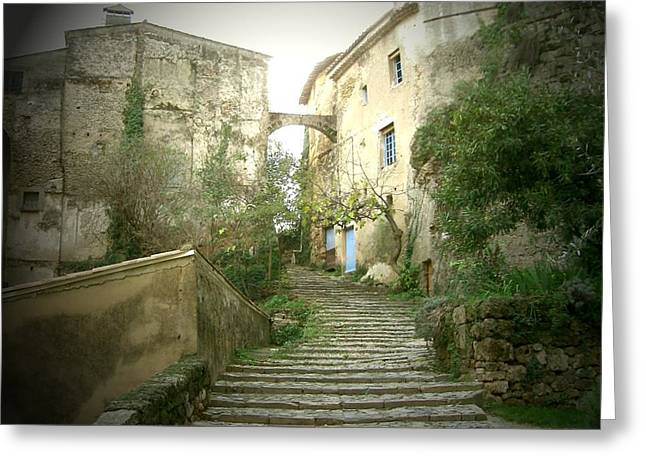 Provence Village Photographs Greeting Cards - Provence Greeting Card by Yannick Guerin