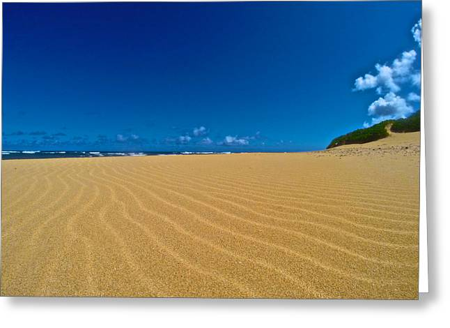 Abstract Beach Landscape Greeting Cards - Proverbial Greeting Card by Steven Lapkin