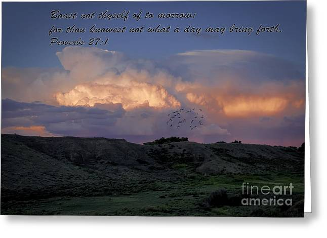 Mystical Landscape Greeting Cards - Proverbs 27 Greeting Card by Janice Rae Pariza