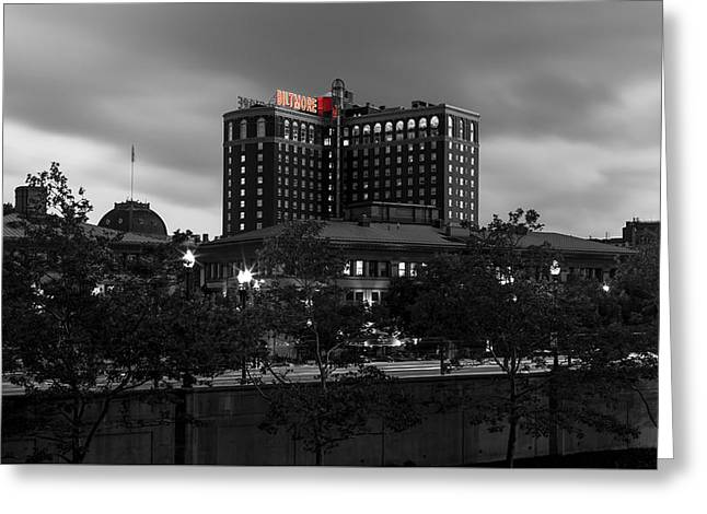 Providence Biltmore Greeting Card by Andrew Pacheco