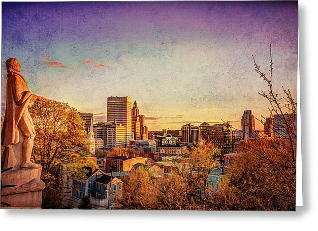 Prospects Greeting Cards - Providence from Prospect Park Greeting Card by Jerri Moon Cantone