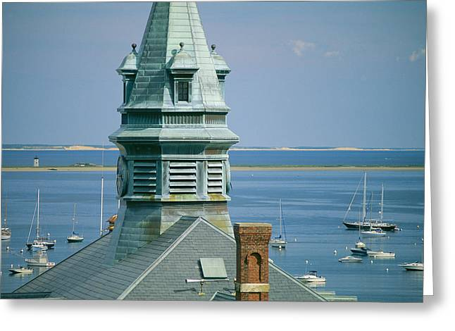 Governmental Greeting Cards - Provincetown Harbor With Town Hall Greeting Card by Michael Melford