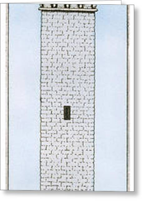 Mayflower Mixed Media Greeting Cards - Provincetown Pilgrim Monument Greeting Card by Charles Harden