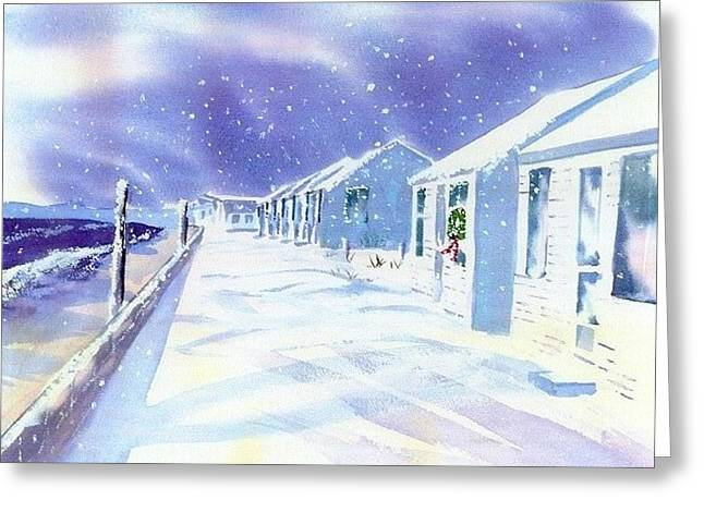 Cape Greeting Cards - Provincetown Winter Greeting Card by Joseph Gallant