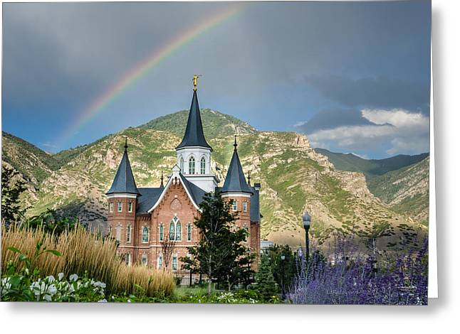 Utah Temple Photography Greeting Cards - Provo Temple Fairy Tale Greeting Card by La Rae  Roberts