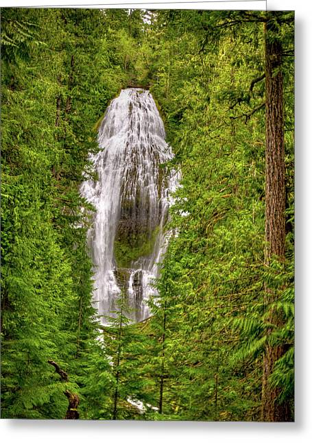 Fall River Scenes Greeting Cards - Proxey Falls Greeting Card by Connie Cooper-Edwards